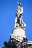 Amiral Horatio Nelson Statue sur la colonne de Nelsons Photo libre de droits