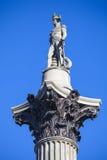 Amiral Horatio Nelson Statue sur la colonne de Nelsons Image libre de droits