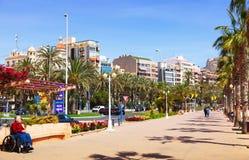 Amiral July Guillen Tato d'avenue dans Alicante Images libres de droits