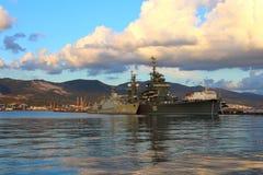 Amiral Kutuzov de croiseur dans Novorossiysk Photo stock