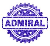 AMIRAL rayé Stamp Seal Illustration Libre de Droits