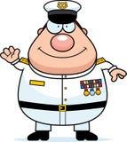 Amiral Waving de marine de bande dessinée Photographie stock