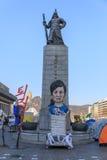 Amiral Yi Sun Sin de statue à la place de Gwanghwamun Image libre de droits
