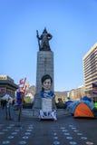 Amiral Yi Sun Sin de statue à la place de Gwanghwamun Photos libres de droits