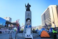 Amiral Yi Sun Sin de statue à la place de Gwanghwamun Photo libre de droits