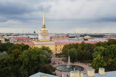 Amiralitetet i St Petersburg, Ryssland Fotografering för Bildbyråer