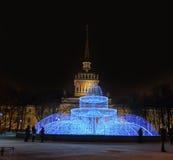 Amirauté avec des décorations de Noël Image libre de droits