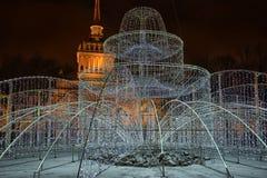 Amirauté avec des décorations de Noël Images libres de droits