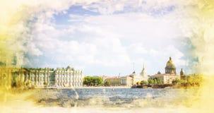 Amirauté et cathédrale de St Isaac à St Petersburg Photos libres de droits