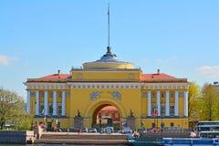 Amirauté principal à St Petersburg, Russie Images stock