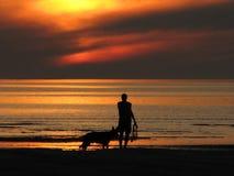 Amis à la plage Photographie stock