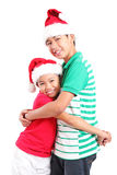 Amis à Noël Image stock