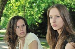 Amis (adolescentes) en conflit Photographie stock libre de droits