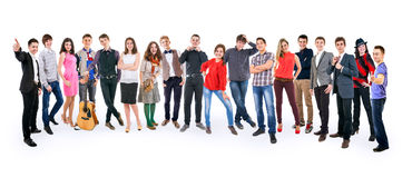 Amis adolescents grand groupe Images stock