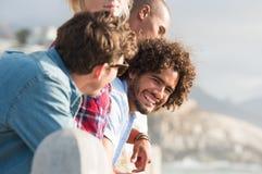 Amis appréciant des vacances Images libres de droits