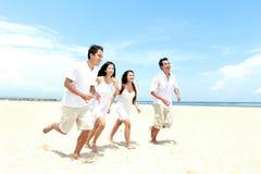 Amis appréciant la plage ensemble Image stock