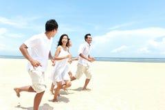 Amis appréciant la plage ensemble Photographie stock libre de droits