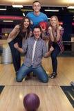 Amis au bowling Photo libre de droits