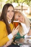 Amis avec des bières Photo libre de droits