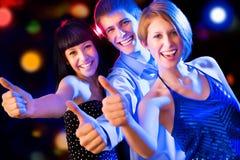 Amis avec des pouces vers le haut Image libre de droits