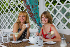 Amis ayant le café. Image stock