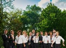 Amis chanteurs Photos libres de droits