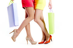 Amis d'achats Image stock