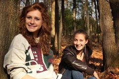Amis d'adolescent Photos libres de droits