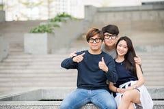 amis d'adolescent Photo libre de droits