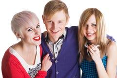 Amis d'adolescent heureux Image stock