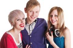 Amis d'adolescent heureux Photos libres de droits