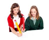 Amis d'adolescent jouant des ouths et des croix Photographie stock libre de droits