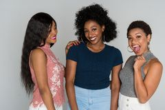 Amis d'afro-américain Photographie stock