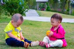 Amis d'enfance Photo libre de droits