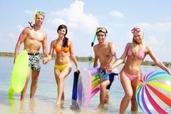 Amis dans l'eau Photo stock