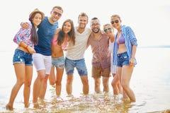 Amis dans l'eau Image stock