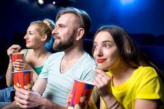 amis dans le cinéma Image stock