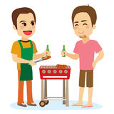 Amis de barbecue illustration de vecteur