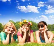 Amis de bonheur Image libre de droits