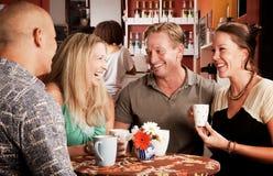 Amis de café Photographie stock libre de droits