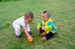 Amis de Childhood de frère Photographie stock