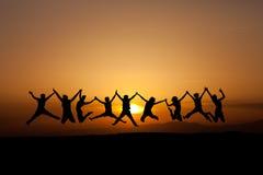 Amis de coucher du soleil Images libres de droits