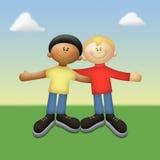 Amis de couleur Image libre de droits