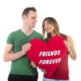 Amis de couples d'amour pour toujours Photo stock