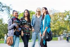 Amis de diversité comme groupe en parc Images stock