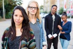Amis de diversité dans la ville Photo libre de droits