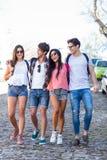 Amis de hanche allant sur une promenade Image libre de droits