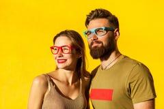 Amis de hippie de bonheur Images libres de droits
