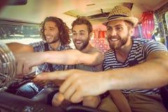 Amis de hippie sur le voyage par la route Photo libre de droits