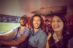 Amis de hippie sur le voyage par la route Photos stock
